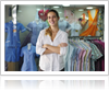 Woman Standing in Retail Shop